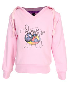 Lizzy Bugs Hooded Sweat Pink