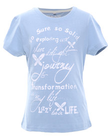 Lizzy Alice Short Sleeve Tee Blue