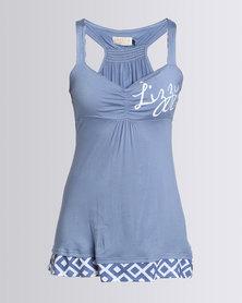 Lizzy Humdinger Ladies Styled Strappy Vest Blue
