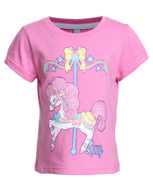 Lizzy Dilly Tots Tee Pink