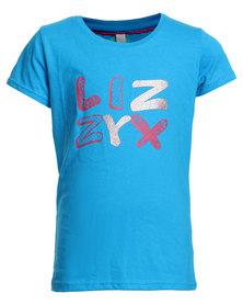 Lizzy Aimara Girls Tee Blue
