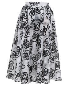 Loin Cloth & Ashes Ghana Print Skirt Floral