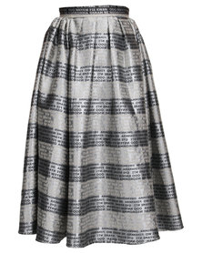 Loin Cloth & Ashes Ghana Print Skirt Word Print
