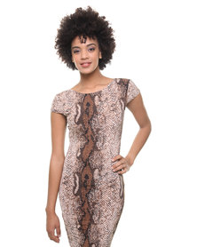 London Fashion Hub Lili London Luana Bodycon Dress Multi