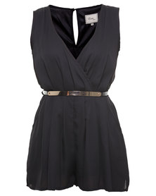London Fashion Hub Missi Cami Soft Touch Jumpsuit Black