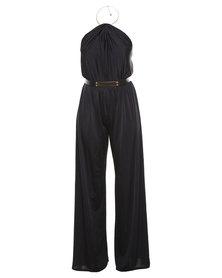London Fashion Hub Lili London Linzie Choker Jumpsuit Black