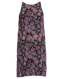 London Hub Fashion Print Dress Multi