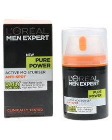 L'Oreal Men Expertise Pure Power Anti-Bacterial Face Moisturiser 50ml