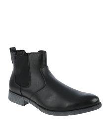 Luciano Rossi Classic Slip On Boot Black