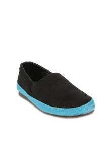 Luciano Rossi Youths Casual Shoes Black