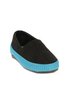 Luciano Rossi Toddlers Casual Loafers Black - Warehouse Sale