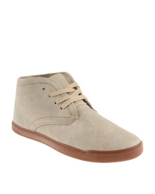 Luciano Rossi Chukka Lace Up Boot Beige