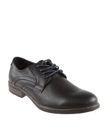 Luciano Rossi Two Toned Casual Lace Up Shoes Black