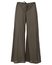 Lunar Drawstring Pants Green