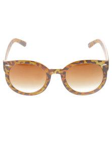 Lundun Tortoise Round Sunglasses Brown