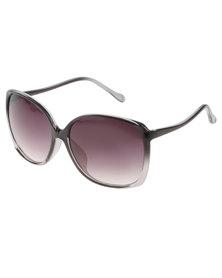Lundun Ombre Square Frame Sunglasses Black