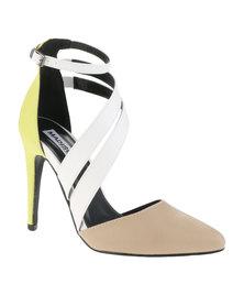 Madison Naomi Heels Nude/White/Yellow