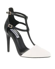 Madison Gisele Heels White/Black