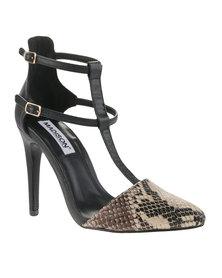 Madison Gisele Heels Black/Light Brown