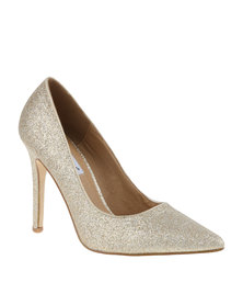 Madison Tribeca High Heel Gold Glitter