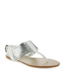 Madison Chicago Sling-Back Sandals White