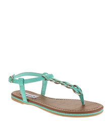 Madison Mariano Flat Sandals Blue-Green