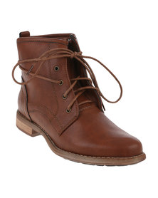 Madison Hamilton Ankle Boots Tan