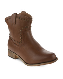 Madison Emma Ankle Boots Tan