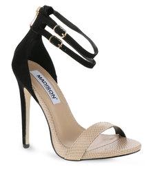 Madison York High Heel Sandal Black/Nude