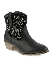 Madison Matilda Ankle Boots Black