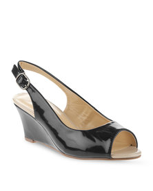 Madison Maddy Sling-Back Wedge Heel Black