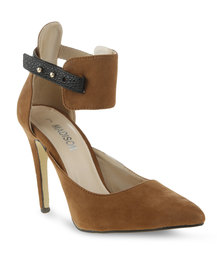 Madison Aurelia Pointed High Heel Brown/Black