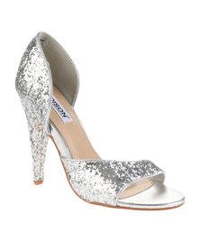 Madison Miranda Heels Silver Glitter