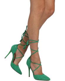 Madison Exclusive Mindy Ankle Tie Heel Green