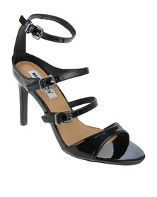 Madison Kasey Multi Strap High Heel Black