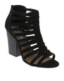 Madison Jolie Block Heel Black
