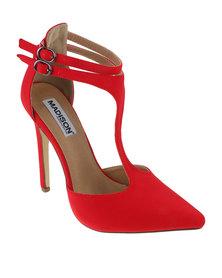 Madison Exclusive Carolyn High Heel Red Sateen