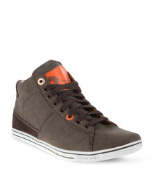 Magents Kickaz Lace-Up Sneaker Brown