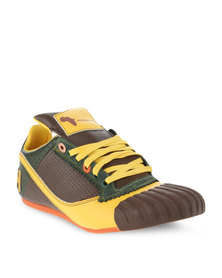 Magents Game Ova Leather Lace-Up Sneaker Green
