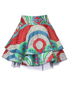 Mantsho by Paleso Mokubung Two Step Skirt with Tulle Multi-Coloured