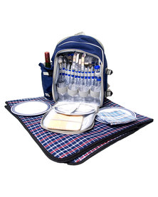 Marco Picnic Backpack & Blanket Blue