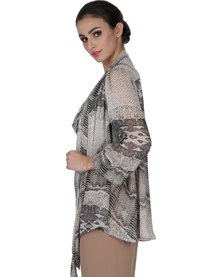 Marion and Lindie Diaphanous Cape Black
