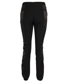 Marion And Lindie Tuxedo Trouser With Satin Panel Black