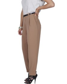 Marion and Lindie Buckle Trousers Brown