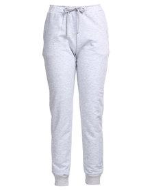 MAVEN Narrow Leg Fleece Sweatpants Grey