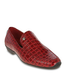 Mazerata Rossi Crocodile Dress Shoes Red