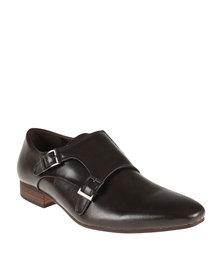 Mazerata Formal Slip On Shoe With Double Buckle Brogue Chocolate