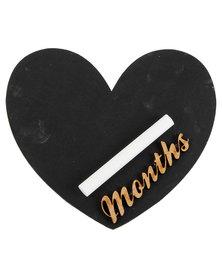 Melsbuzz Natural Heart Chalk Board