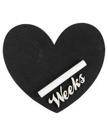Melsbuzz White Heart Chalk board