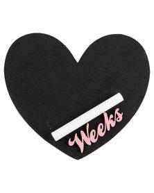 Melsbuzz Pink Heart Chalk Board
